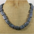 NATURAL BLUE SPONGE CORAL NECKLACE