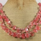 CHERRY QUARTZ 2ROW NECKLACE