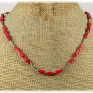 HANDMADE NATURAL RED CORAL NECKLACE