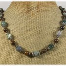 Handmade NATURAL TIGER EYE & FANCY JASPER NECKLACE