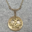 Handmade VICTORIAN STEAMPUNK SKULL LOCKET PENDANT NECKLACE