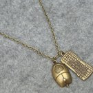 Handmade COMPUTER KEYBORAD MOUSE SET NECKLACE
