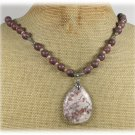 Handmade BROWN POPPY JASPER ARTISTIC JASPER FW PEARLS NECKLACE