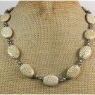 Handmade WHITE TURQUOISE & FRESH WATER PEARLS NECKLACE