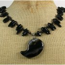 Handmade BLACK AGATE NECKLACE
