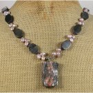 Handmade PICASSO JASPER & FRESH WATER PEARLS NECKLACE