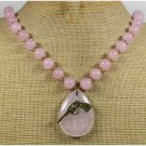 Handmade PINK QUARTZ & PINK JADE NECKLACE