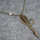 Handmade HEART & ARROW & FRESH WATER PEARL NECKLACE