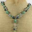 Handmade GREEN JADE & FRESH WATER PEARLS NECKLACE