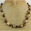 Handmade NATURAL PICTURE JASPER & TIGER EYE NECKLACE