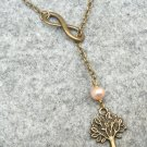 Handmade LIFE TREE INFINITY FRESH WATER PEARL NECKLACE