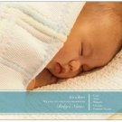 "SWEET SIMPLICITY | 20ct - 5.5""x4"" flat glossy photo BABY BOY ANNOUNCEMENTS w matching envelopes"