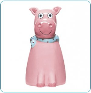 Dilly Pig Ceramic Bank - Avon Tiny Tillia