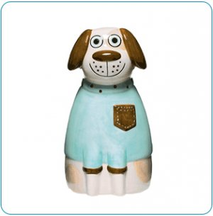 Duncan Dog Ceramic Bank - Avon Tiny Tillia