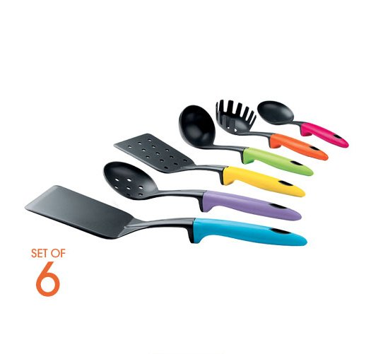 Colorful kitchen tool set avon for Colorful kitchen tools
