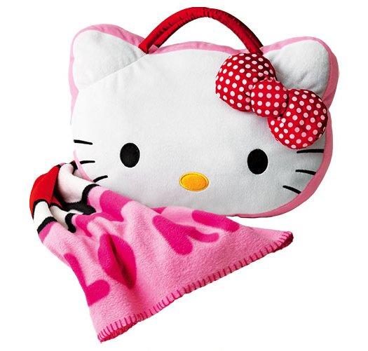 Hello Kitty Pillow And Throw Blanket Set : Hello Kitty Throw with Pillow Storage - Avon