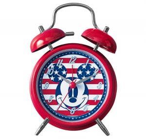Patriotic Mickey Mouse Twin Bell Clock - Avon