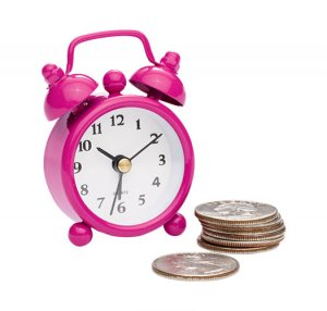 Pink Mini Alarm Clock - Avon