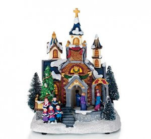 Holiday Blessings Church Centerpiece - Avon