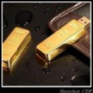 NEW gold bar Genuine 8GB USB 2.0 Memory Stick Flash Pen Drive