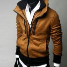 Double zipper men's sweater, jackets