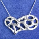 Hearts in Heart Necklace Solid Sterling Silver P1122
