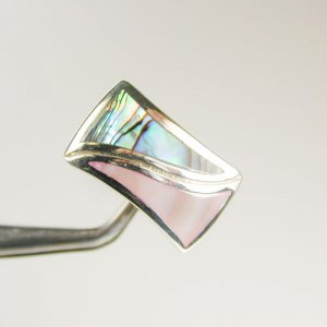 Vibrant Color Combination Sterling Silver Size 6 Ring R1234