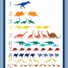 Colorful Dinosaur Counting Poster