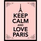 Keep Calm and Love Paris Print