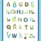 Fun and Colorful Alphabet Poster - Earthy colors