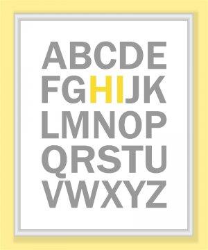 ABC's Alphabet Hi Print