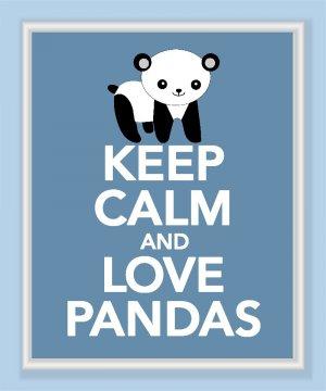 Keep Calm and Love Pandas Print