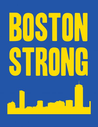Boston Strong with skyline Print