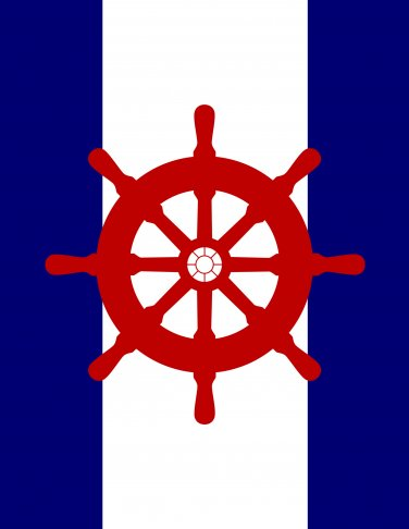 Steering Wheel Nautical Print