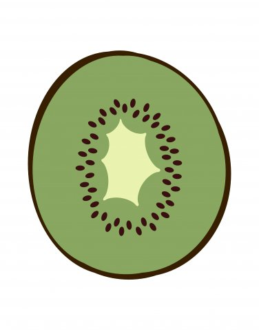 Modern print of a Kiwi Fruit for your kitchen