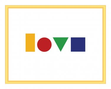 Love spelled out in Geometry Print