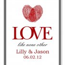 Keepsake print with Thumbprint Heart