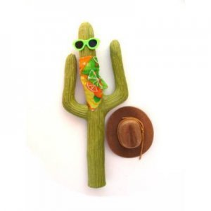 Wild West Cactus Antenna - Tan - Cowboy Cactus Antenna