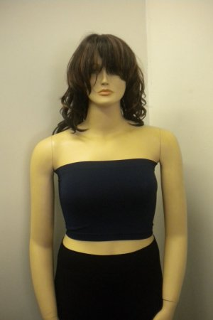 Short Tube Top color Navy Blue - one size plus - S1002