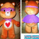 "Nanco Original 18"" Jumbo Plush Care Bears Super Hero Tenderheart w Mask & Cape"