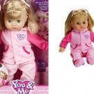 Toys R Us You & Me Play With Me Mommy Interactive Doll w/ Hoodie Blonde Hair