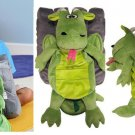 Happy Nappers Huge Plush Dragon Reversible Sounds Pillow Pet With Castle NEW!