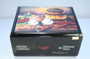 Humidors Cigar Box Heavy wood w/Cuban Artworks .Dozen Paintings to choose !!!