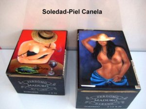 Exclusive Cigar Box w/artworks.Four Cuban paintings to Choose 100% Handmade