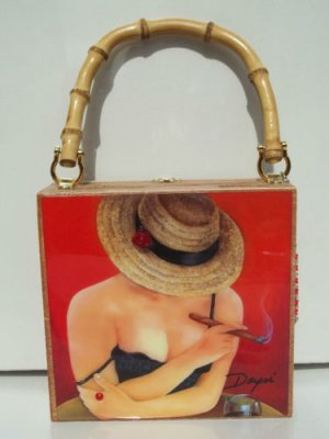 Christmas Gifts!!!. Cigar Box Purse w/bamboo handle. Three Purse to Choose