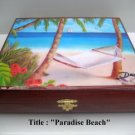 Original  Robusto Cigar Box w/Artworks. Dozen paintings to choose. 100% Handmade