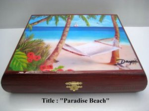 Original  Robusto Cigar Box w/Artworks. Dozen paintings to choose. 100% Handmade