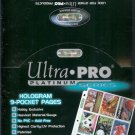 (100) ULTRA-PRO 9-POCKET TRADING CARD SHEETS