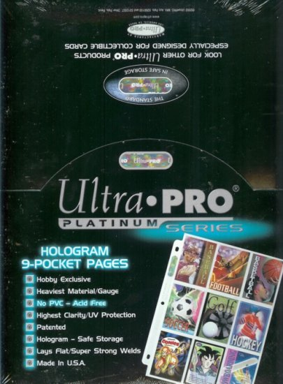 (500) ULTRA-PRO 9-POCKET TRADING CARD SHEETS