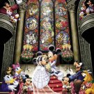 D-1000-252 Minnie Mickey Mouse Church Wedding (Japan Tenyo Disney Jigsaw Puzzle)